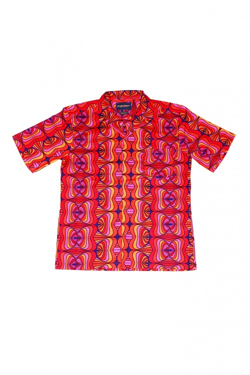 Men's Shirt (Pink × Orange)