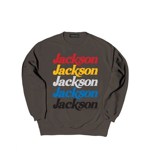 JACKSON 5 CREW SWEAT M381101- CHARCOAL / クルー スウェット シャツ MARATHON JACKSON マラソン ジャクソン