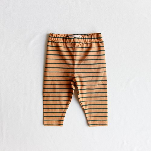 《TINYCOTTONS 2019AW》STRIPES PANT / brown × bottle green