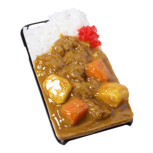 [8004]食品サンプル屋さんのスマホケース(iPhone6/6s:カレーライス)【メール便不可】