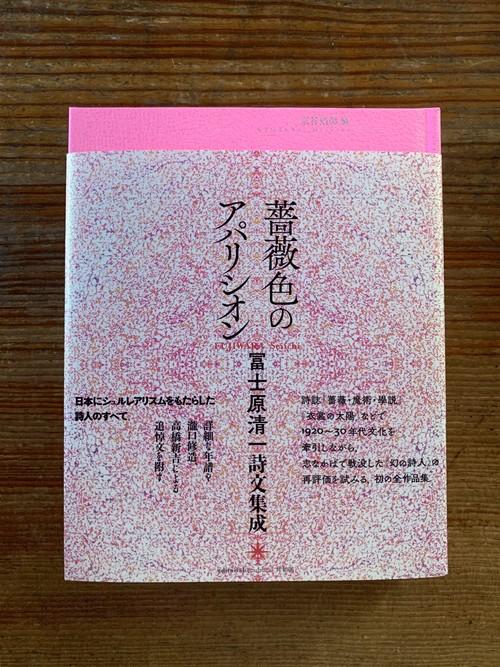 【BOOK】送料無料!冨士原清一詩文集成『薔薇色のアパリシオン』