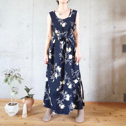 printed slit dress