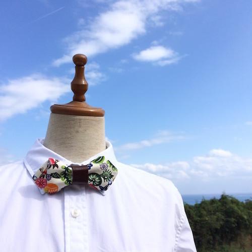 蝶ネクタイ やどかりパラダイス 白( ショート)