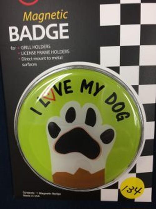 134番 ゴーバッジ I LOVE MY DOG