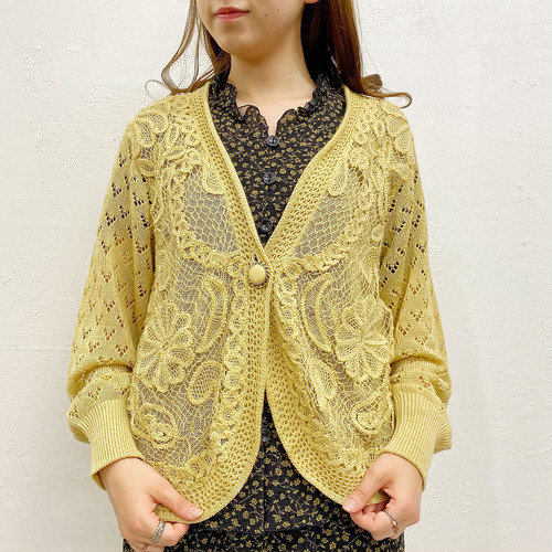 (LOOK) flower embroidery cardigan