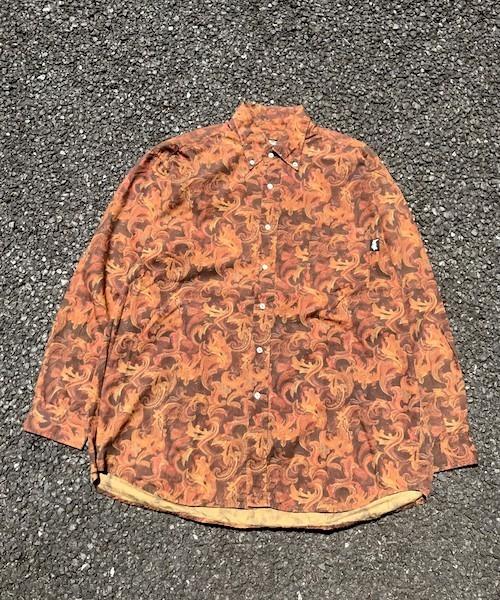 OLD Stussy 総柄 L/S shirt(VS-019)