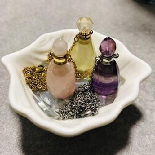 天然石香水瓶ペンダント+オイル小分け (2ml)