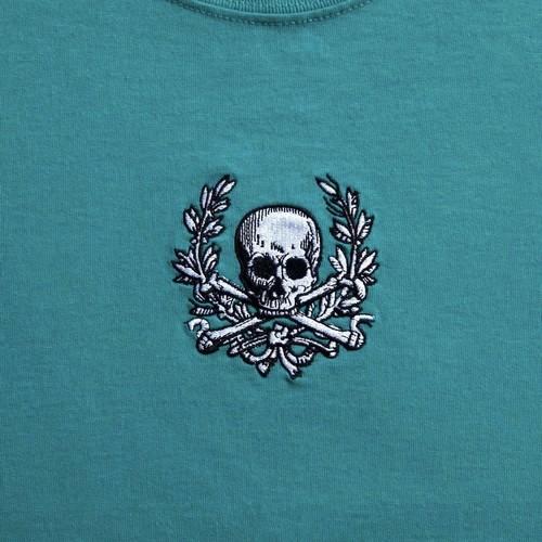 Skull Wreath Tee(JadeGreen)