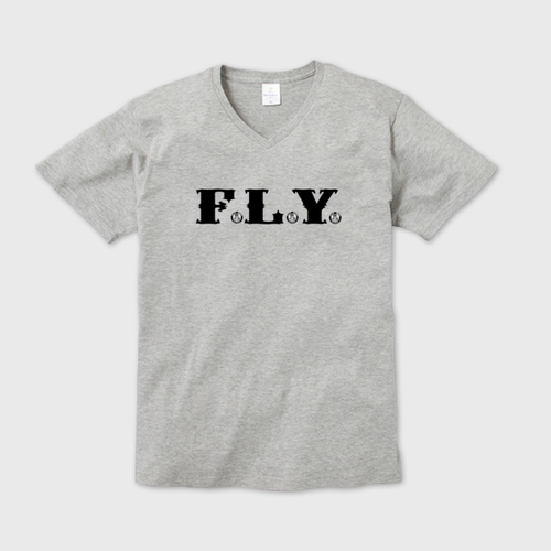 F.L.Y. V-Neck T (GRY)
