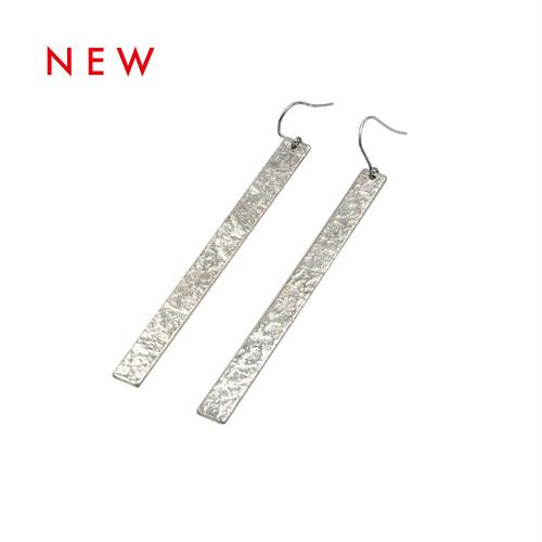 《ピアス 》TIN BREATH Pierced earrings 7×80mm silver