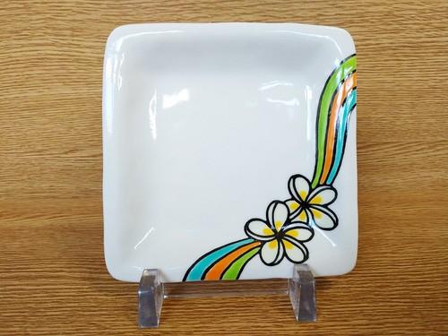 角小皿 プルメリアライン
