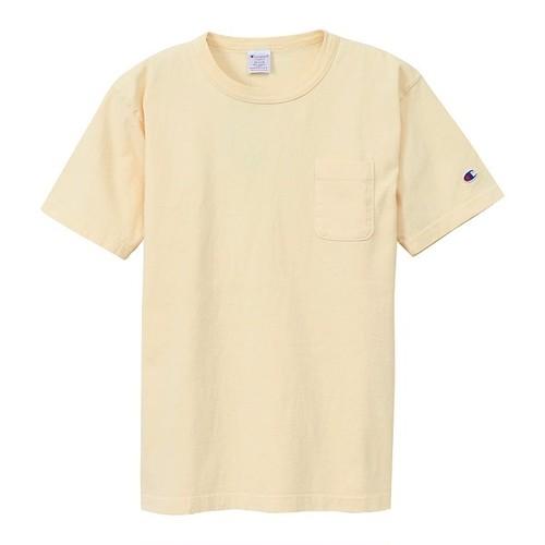 Champion / チャンピオン | T1011 USA T-Shirt with pocket / クリームイエロー