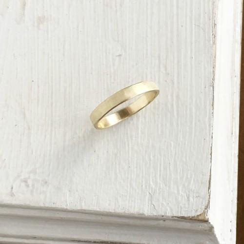 ヴィンテージなマットゴールド ブラスリング 真鍮・フラット
