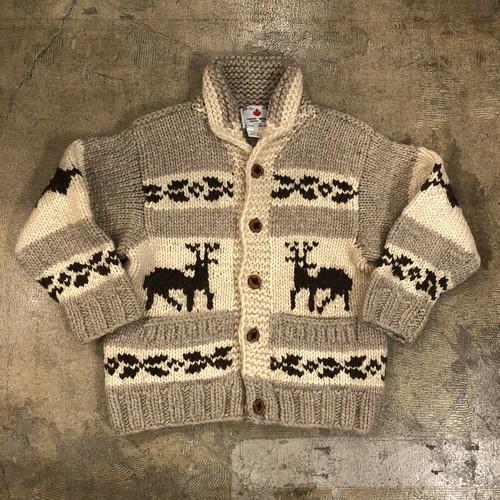 Cowichan Reindeer Button Sweater ¥12,800+tax