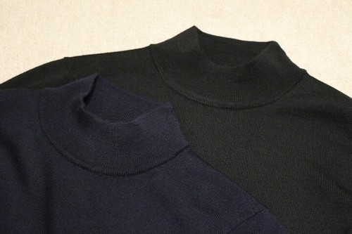 MICHELACCI DANILO Mock Neck Knit Navy&Black