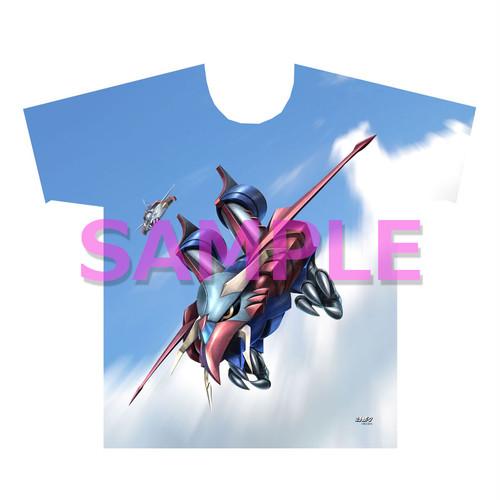 【4589839358590先】勇者ライディーン フルグラフィックTシャツ ゴッドバード XL
