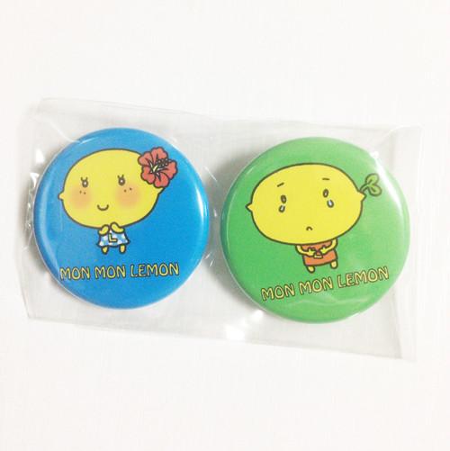レモンちゃん缶バッチ 2個セット(32mm)