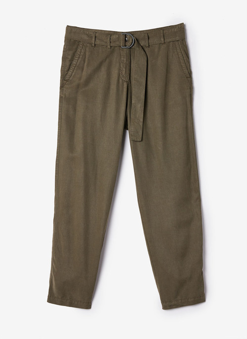 LYOCELL CARGO TROUSERS WITH BELT