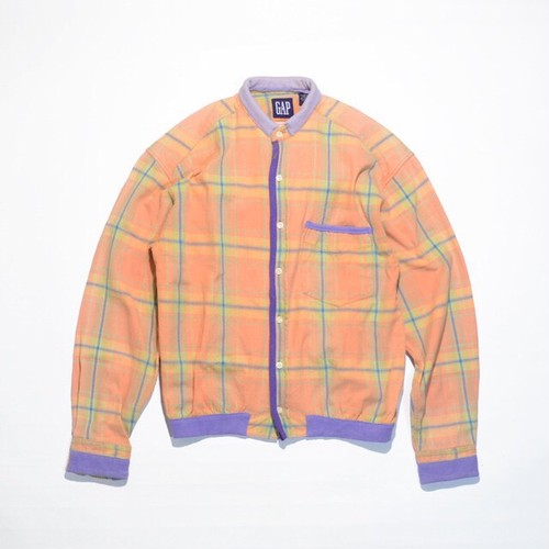 Used☆ Unisex Remake OLD GAP Flannel No Collar SHIRTS