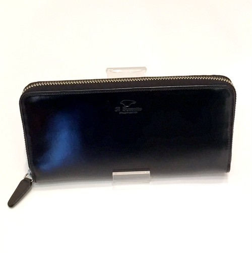 ROUND ZIP WALLET Black