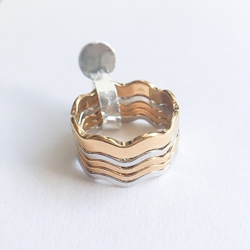 """AVON"" Fashion Waves ring #12-13[r-75]"