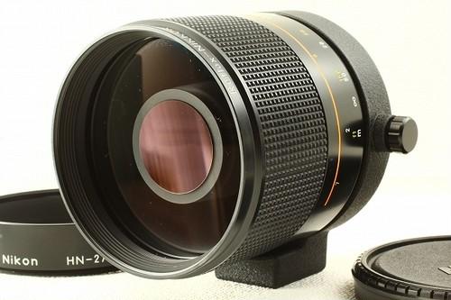 Nikonニコン Reflex 500mm F8 NEW ミラーレンズ フード付き 極上品ランク/6972