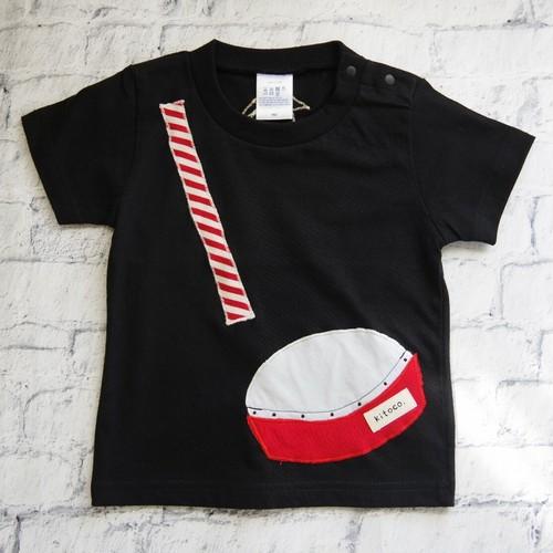 【kitoco.】アップリケのキッズTシャツ(エイサー・90)