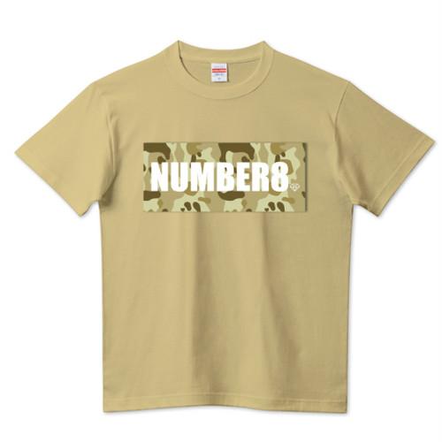 ロゴスモールダイヤモンドTシャツ サンドカーキ (ベージュカモフラバージョン) Number8(ナンバーエイト) メンズ レディース キッズ