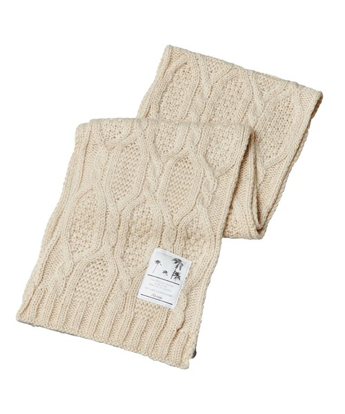 BIG NAME CABLE KNIT MUFFLER[REA114]