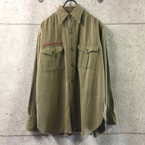 30s~40s SWEET-ORR ボーイスカウトシャツ マチ付き チェンジボタン