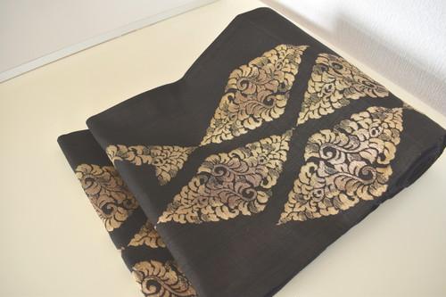しゃれ袋帯【西陣織まわた紬】(仕立てに三週間お時間頂きます)