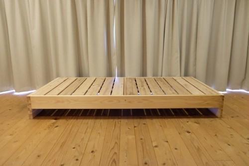 赤板タイプ【百年杉】フラット ダブル(「眠れる森のSUGI」ベッド)