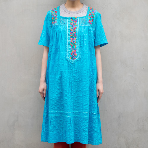 Embroidered x Lace Dress