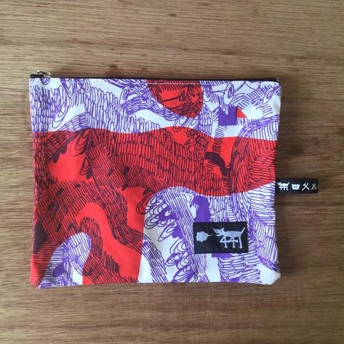 """ミニポーチ mini pouch """"jungle here""""A01"""