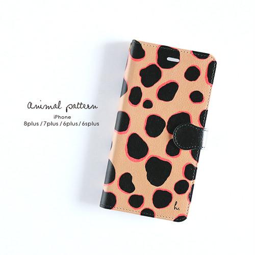 【オーダーメイド】iPhone手帳型スマホケース【Animal pattern】 iPhone8plus/7plus/6plus/6splus