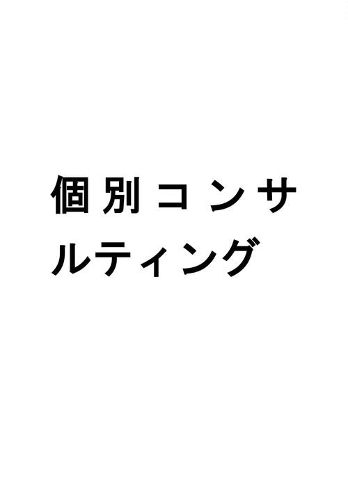 <札幌、沖縄開催>個別コンサルティング 9月11日(火)12日(水)那覇開催 10月7日(金)札幌開催
