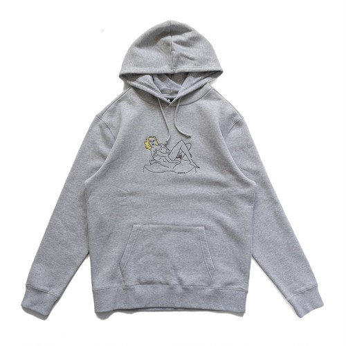 CHRYSTIE NYC (クリスティーニューヨーク) / WOMEN ON THE CHAIR HOODIES -HEATHER GREY-