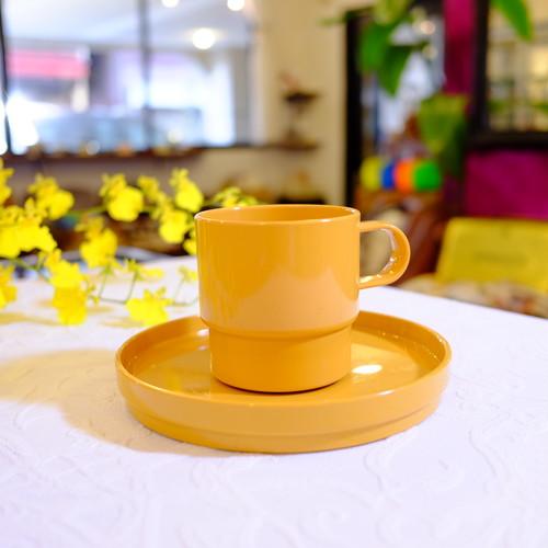 """"""" Rosi Mepal [ロスティ メパル] """" オレンジイエロー プラスチック製 Coffee Cup & Saucer   [PV-1]"""