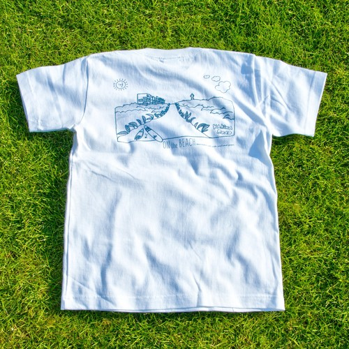 ONJUKU BEACH バックデザインTシャツ ホワイト