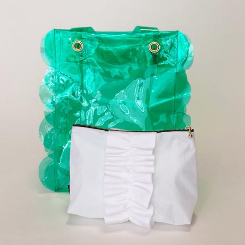 スカラップビニールバッグ