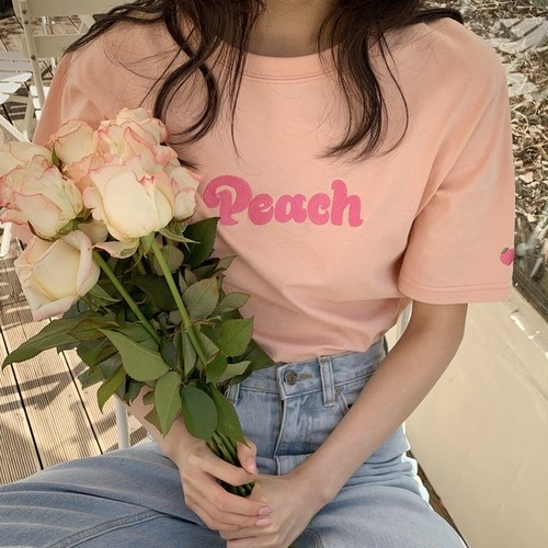 peachロゴTシャツ U5802
