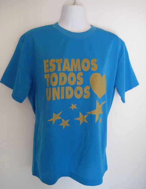 TODOS UNIDOS T-SHIRT TURQUOISE-BLUE