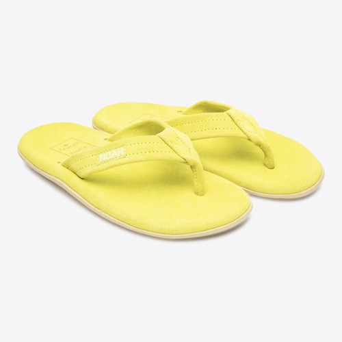 Neon Suede Island Slippers(Yellow)