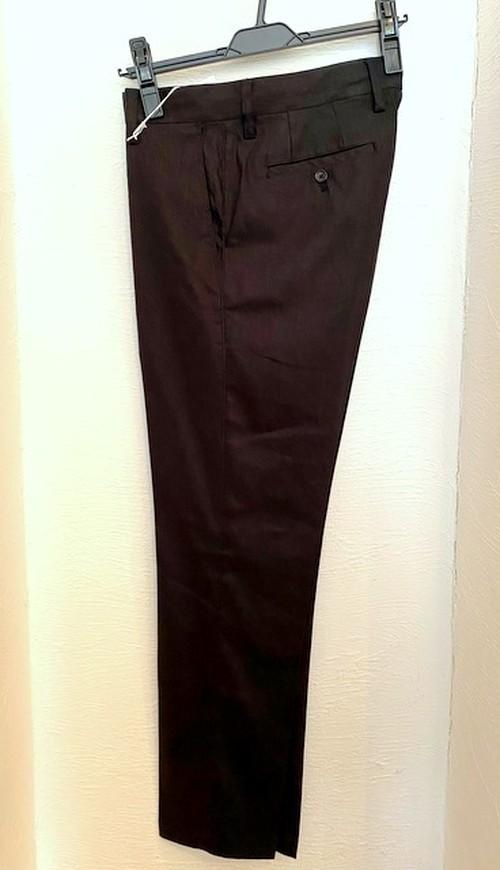 Stretch Linen Slacks Pants Black