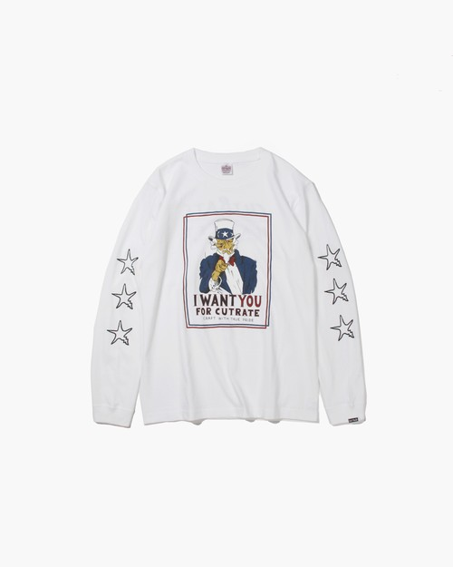 I WANT L/S T-SHIRT / WHITE