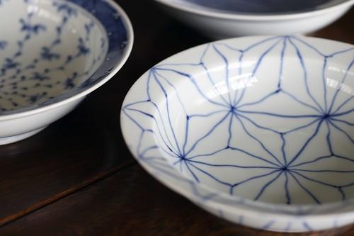 麻の葉 6寸かぶと鉢 作・井手國博 与志郎窯(有田焼)