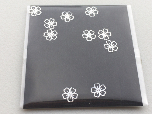 np-13-s 薄型メタルネイルパーツ 桜 シルバー