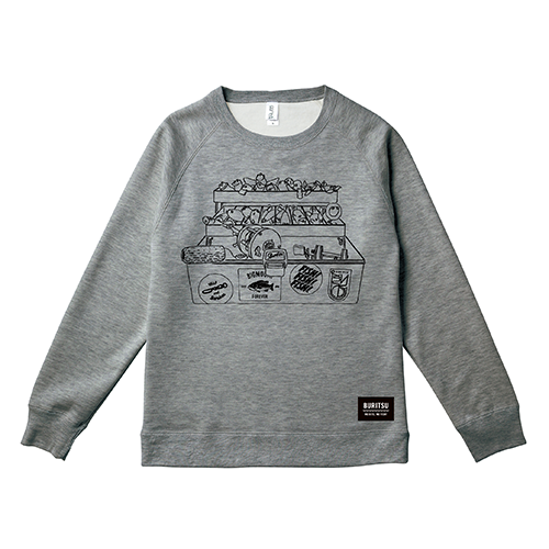 BURITSU BOX SWEAT : Gray
