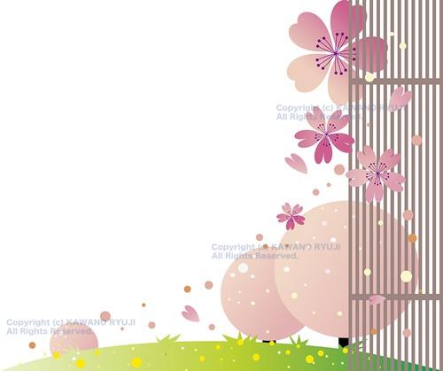 和風の桜背景02_aiデータ(ベクター画像)