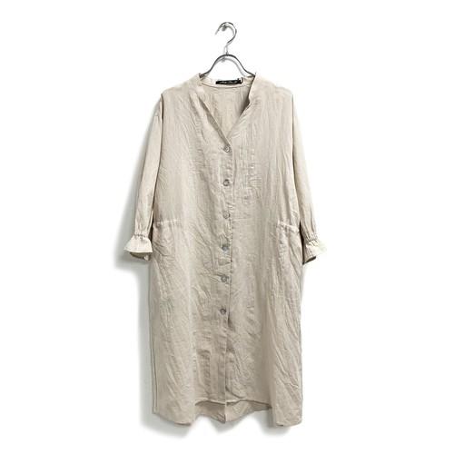 綿麻キャンバス・バックドロスト羽織ワンピース
